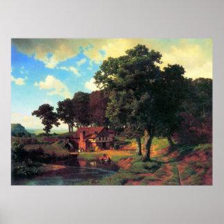 Bierstadt著素朴な製造所 ポスター