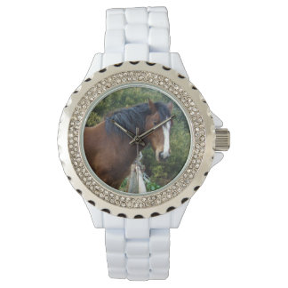 Big_Brown_Clydesdale_Ladies_Sparkle_Watch. 腕時計