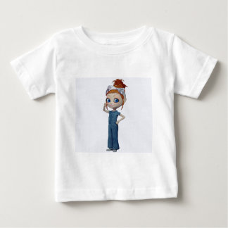 Big eyes doll Blue ベビーTシャツ