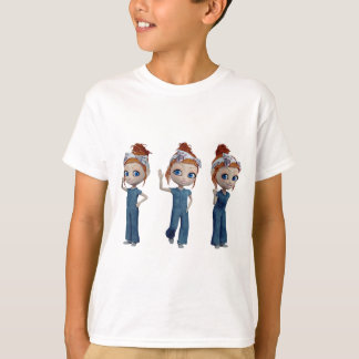 Big eyes doll Blue Tシャツ