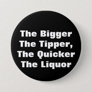 BiggerTheのダンプカー、QuickerTheのアルコール飲料 缶バッジ