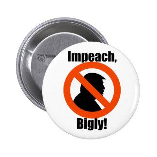 Biglyの切札の抗議を抵抗しますボタンに弾劾して下さい 5.7cm 丸型バッジ