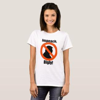 Biglyの切札の抗議を抵抗します女性のTシャツに弾劾して下さい Tシャツ
