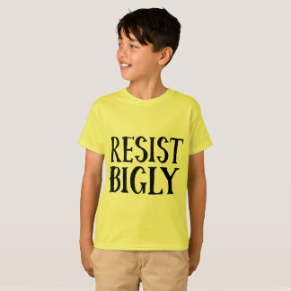 Biglyの反切札の抵抗の服装に抵抗して下さい Tシャツ