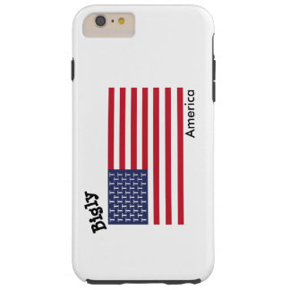 Biglyアメリカの電話箱 Tough iPhone 6 Plus ケース
