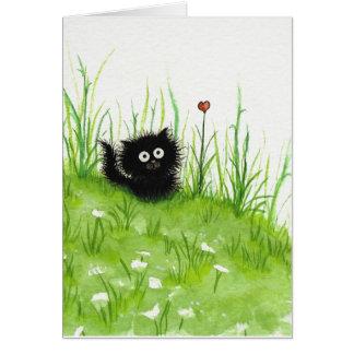 Bihrleの空白のなカードによる曖昧な黒猫 カード