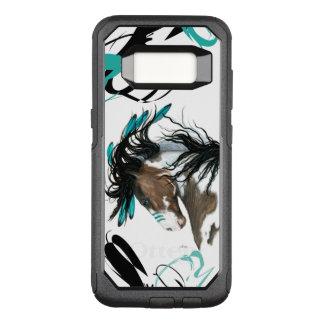 Bihrle著威厳のあるなまだら馬の馬の細胞の場合 オッターボックスコミューターSamsung Galaxy S8 ケース