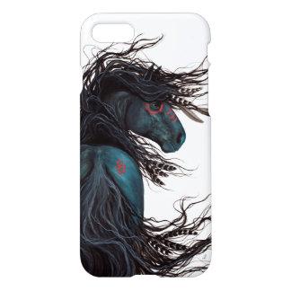 Bihrle著DreamWalkerのFriesianの馬の例 iPhone 8/7 ケース