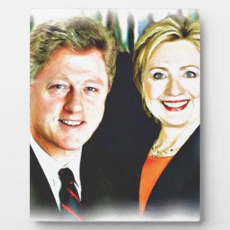 Bill Clinton大統領及びヒラリー・クリントン大統領 フォトプラーク