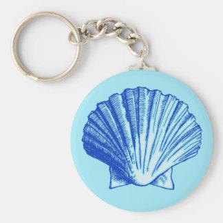 Biminiの青い海の貝 キーホルダー