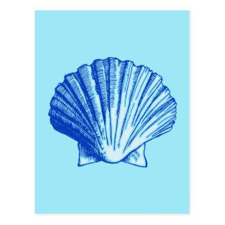 Biminiの青い海の貝 ポストカード