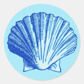 Biminiの青い海の貝 ラウンドシール
