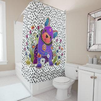 BINDI FRENCHIE  French Bulldog   shower curtain シャワーカーテン