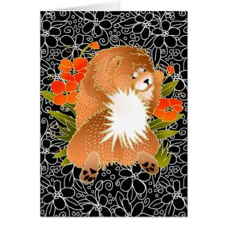 BINDI MINGSIEの赤い食事の挨拶状 カード