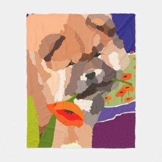 BINDI PUPPY chow-fleece blanket/ table/crate cover フリースブランケット