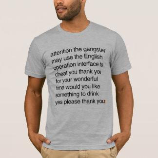 Binglishのタイプティー-壊された英国のTシャツ Tシャツ