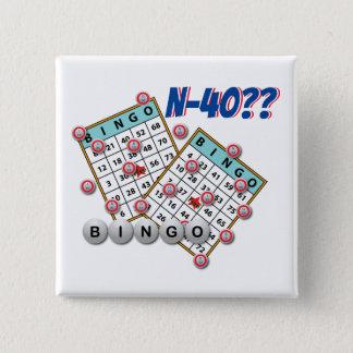 Bingo N40 Las Vegas Nevada 5.1cm 正方形バッジ