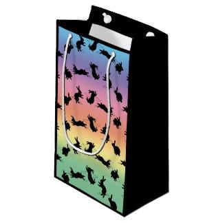 Binkyのバニーのギフトバッグ(虹) スモールペーパーバッグ