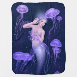 Bioluminescenceのくらげの人魚のベビーブランケット ベビー ブランケット