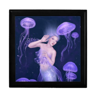 Bioluminescenceのくらげの人魚の記念品箱 ギフトボックス