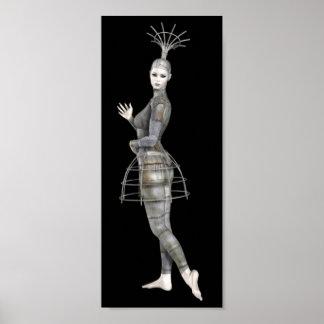 Biomechannequinの女性2 - 3Dゴシックのマネキン ポスター