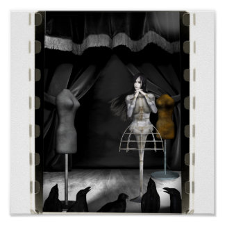 - Biomechannequin 3色鳥のための実行 ポスター