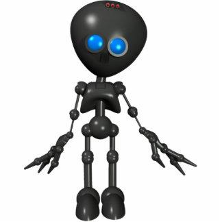 Bionic男の子3Dのロボット-先に見ます 写真彫刻(台付き)
