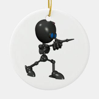 Bionic男の子3Dのロボット-指撃ちます-オリジナル セラミックオーナメント