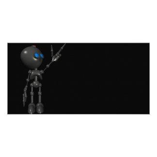 Bionic男の子3Dのロボット-指2つを撃ちます-オリジナル カード
