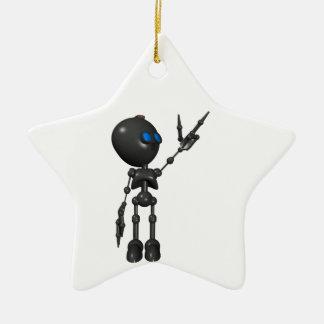 Bionic男の子3Dのロボット-指2つを撃ちます-オリジナル セラミックオーナメント