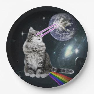 Bioworldレーザーの目の宇宙猫 ペーパープレート