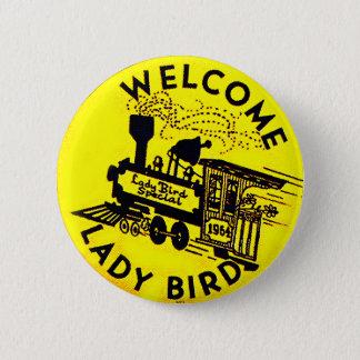 Bird -ボタン女性 缶バッジ