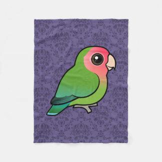 Birdorableのバラ色顔の仲の良い恋人同士 フリースブランケット
