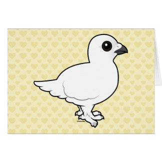 Birdorableのヤナギのライチョウ、冬 グリーティングカード