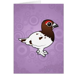 Birdorableのヤナギのライチョウ、夏の男性 グリーティングカード