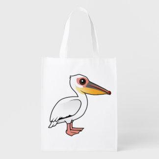 Birdorableの素晴らしいモモイロペリカン エコバッグ
