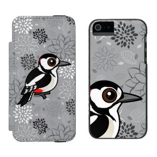 Birdorableの素晴らしい斑点を付けられたキツツキ Incipio Watson™ iPhone 5 ウォレット ケース