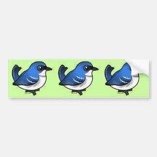 Birdorableの紺碧のアメリカムシクイ バンパーステッカー