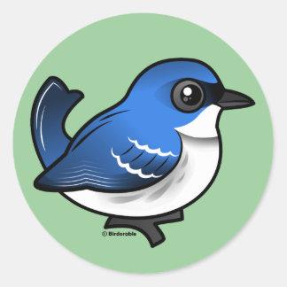 Birdorableの紺碧のアメリカムシクイ ラウンドシール