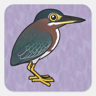 Birdorableの緑の鷲 スクエアシール