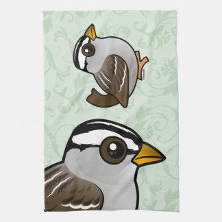 Birdorableはすずめを白戴冠させました キッチンタオル