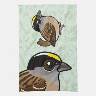Birdorableはすずめを金戴冠させました キッチンタオル
