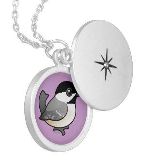 Birdorableは《鳥》アメリカゴガラを黒おおいました ロケットネックレス