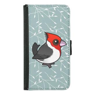 Birdorableは(鳥)ショウジョウコウカンチョウの赤頂点に達しました Galaxy S5 ウォレットケース