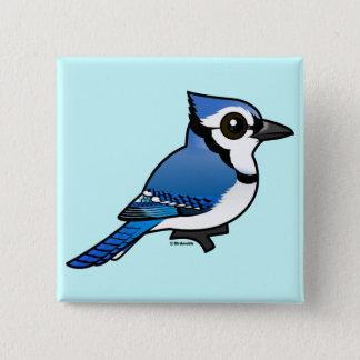 Birdorableアオカケス 5.1cm 正方形バッジ