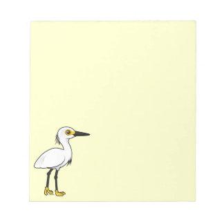 Birdorable Snowyの白鷺 ノートパッド