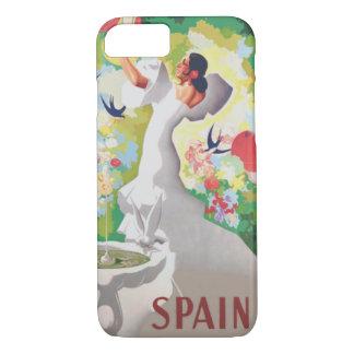 Birds Flowers Fiesta GardenスペインのSenorita iPhone 8/7ケース