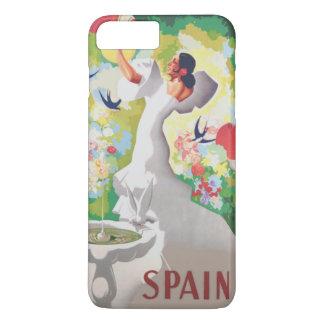 Birds Flowers Fiesta GardenスペインのSenorita iPhone 8 Plus/7 Plusケース