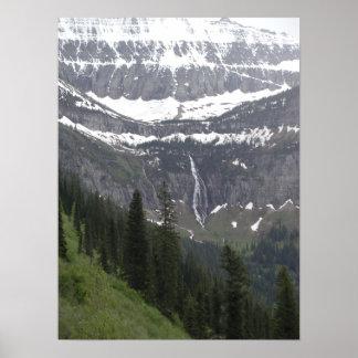 Birdwomanの滝、グレーシャー国立公園 ポスター