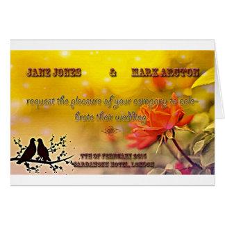Birdyの結婚式招待状 カード